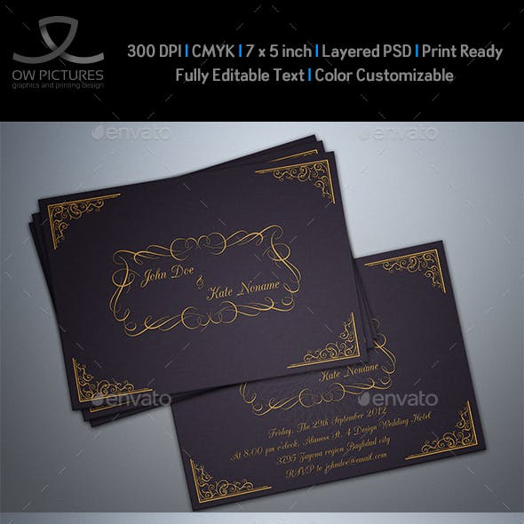 Wedding Invitation Card Vol.3
