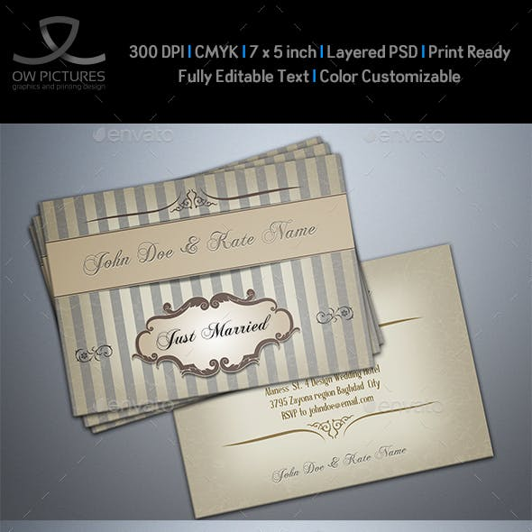 Wedding Invitation Vol.6