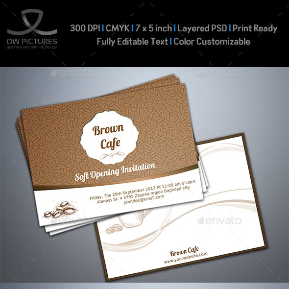 Cafe Invitation Card