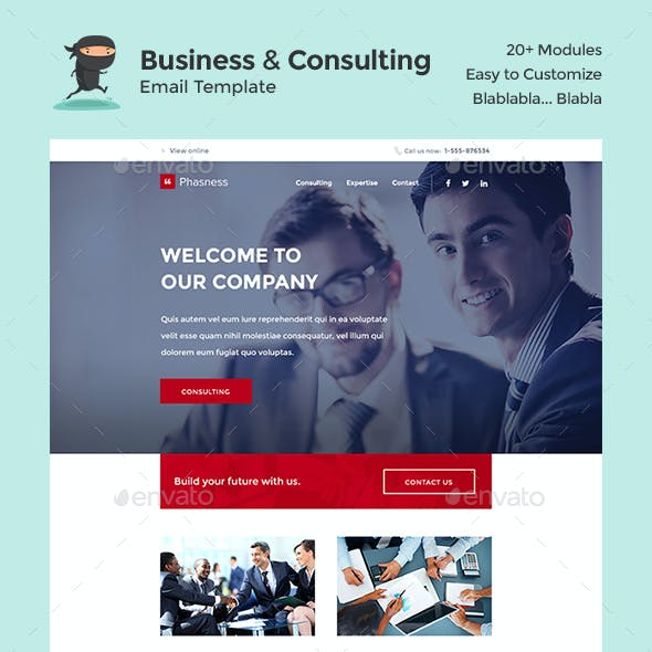 Phasness - Business & Consulting E-Newsletter PSD Template