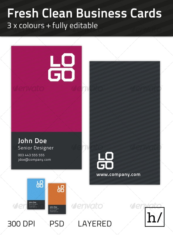 Fresh Clean Business Card - Corporate Business Cards