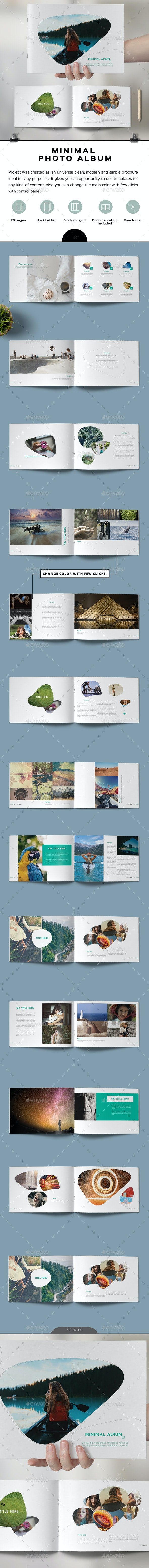 Minimal Photo Album - Photo Albums Print Templates