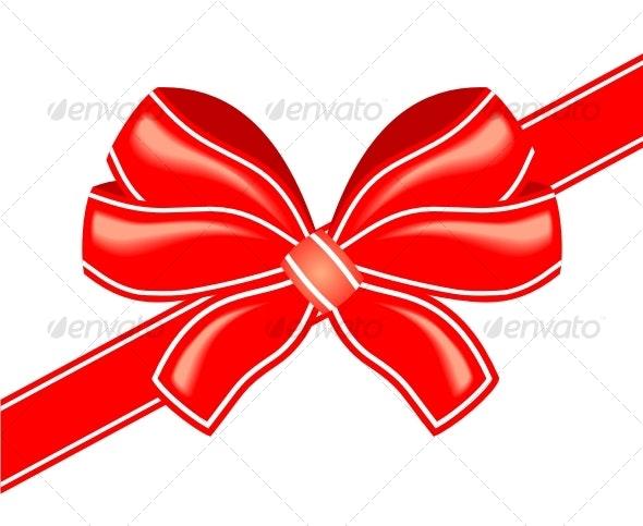 Vector red bow - Decorative Symbols Decorative