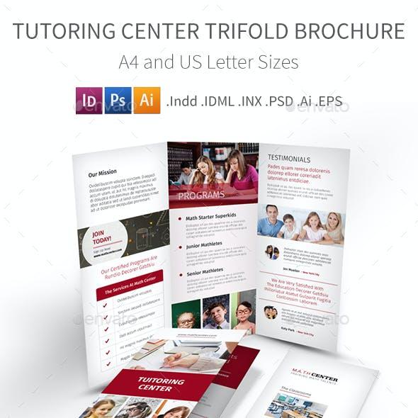 Tutoring Center Trifold Brochure