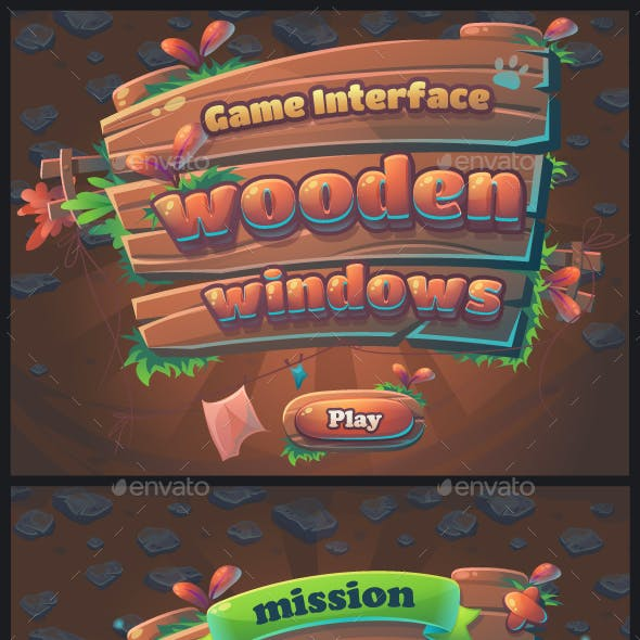 Wooden Windows User Interface