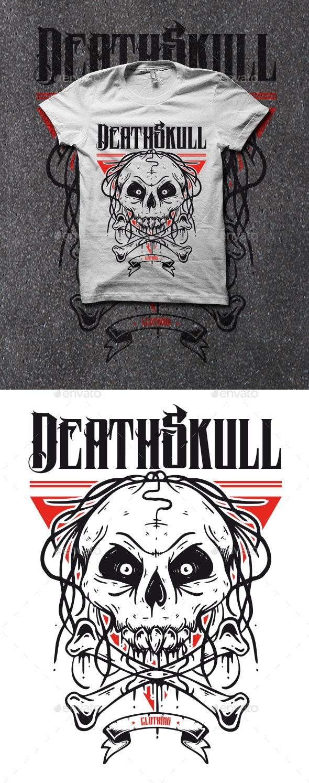 Skull Bones T-shirt - Grunge Designs