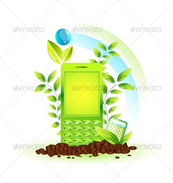 Environmental cellphone - Technology Conceptual