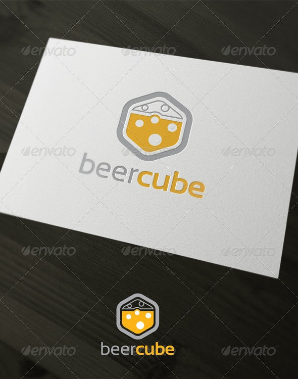 Beer cube - Vector Abstract