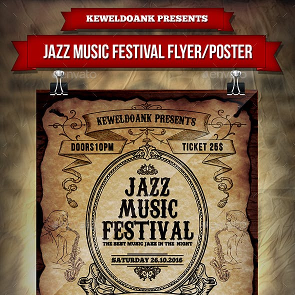 Jazz Music Festival Flyer / Poster