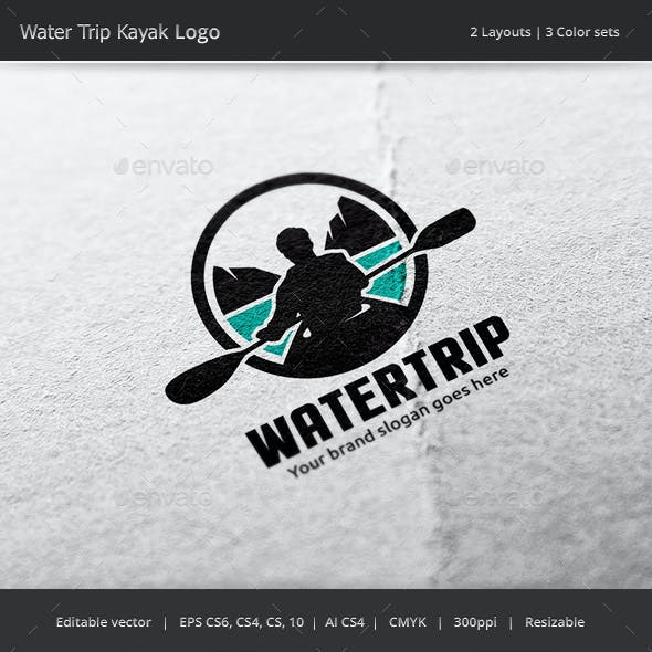 Water Trip Kayak Logo