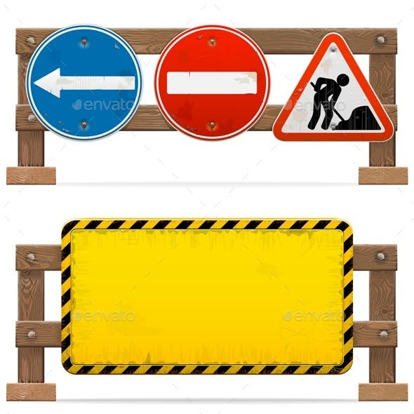 Vector Barriers with Road Signs