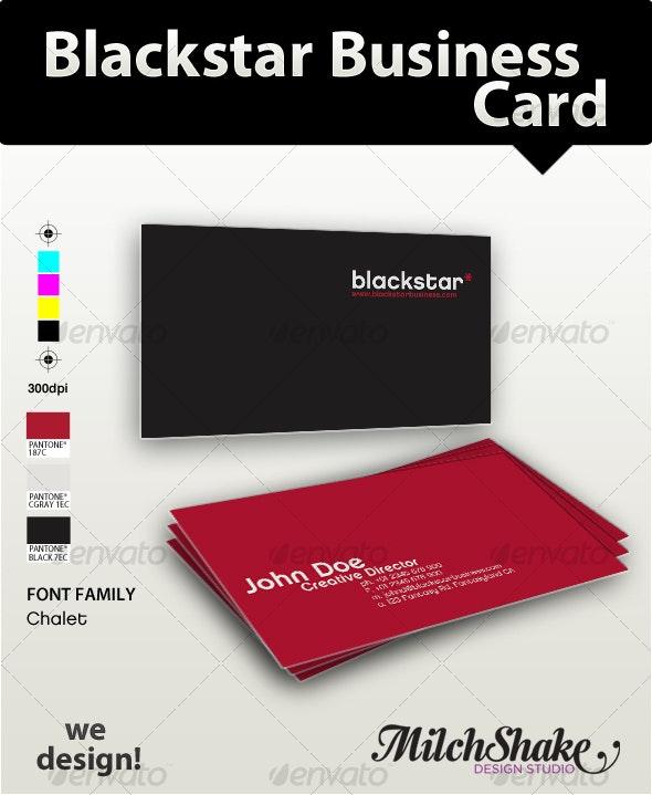 Blackstar Business Card - Creative Business Cards