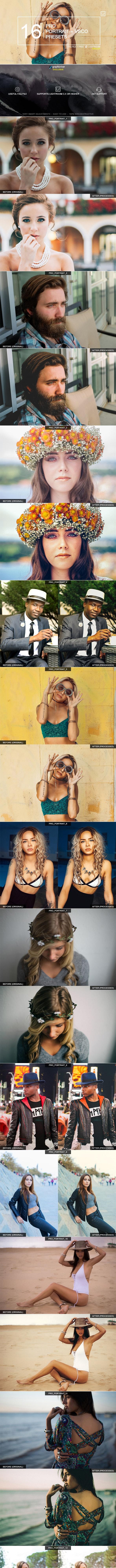 16 Pro Portrait + VSCO Presets - Portrait Lightroom Presets