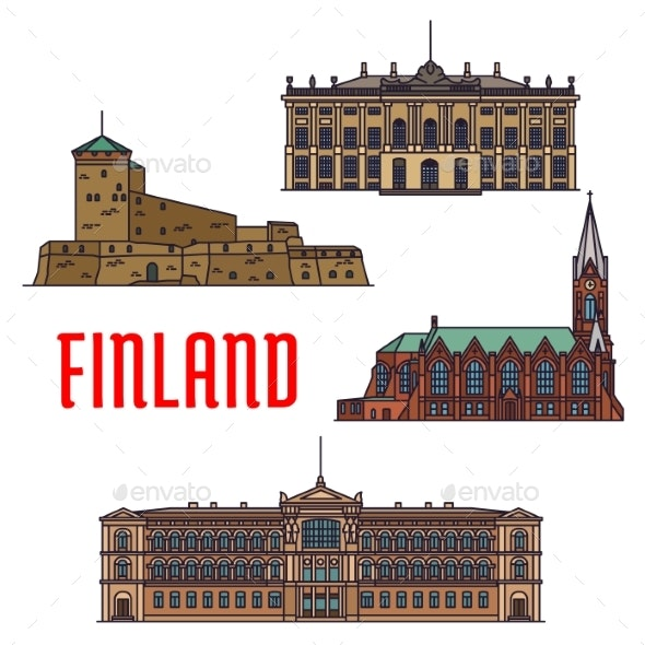 Historic Buildings And Architecture Of Finland - Buildings Objects