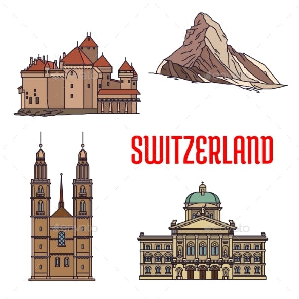 Historic Architecture Buildings Of Switzerland