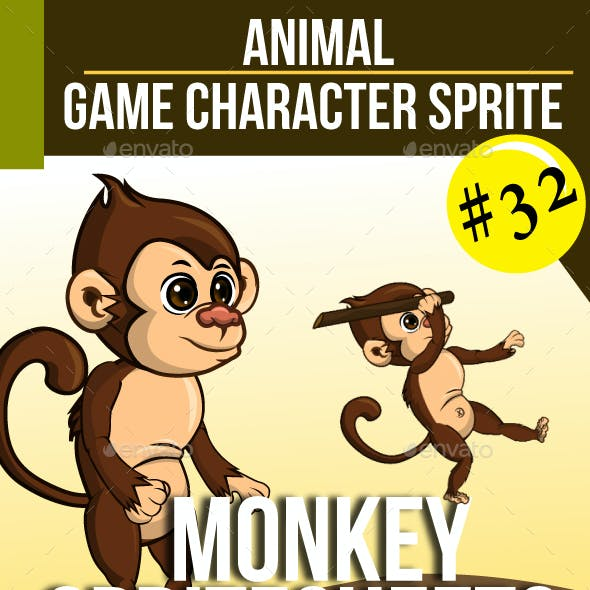 The Monkey Sprite Character
