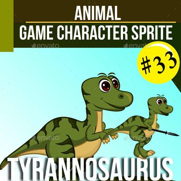 Tyrannosaurus Sprite Sheet