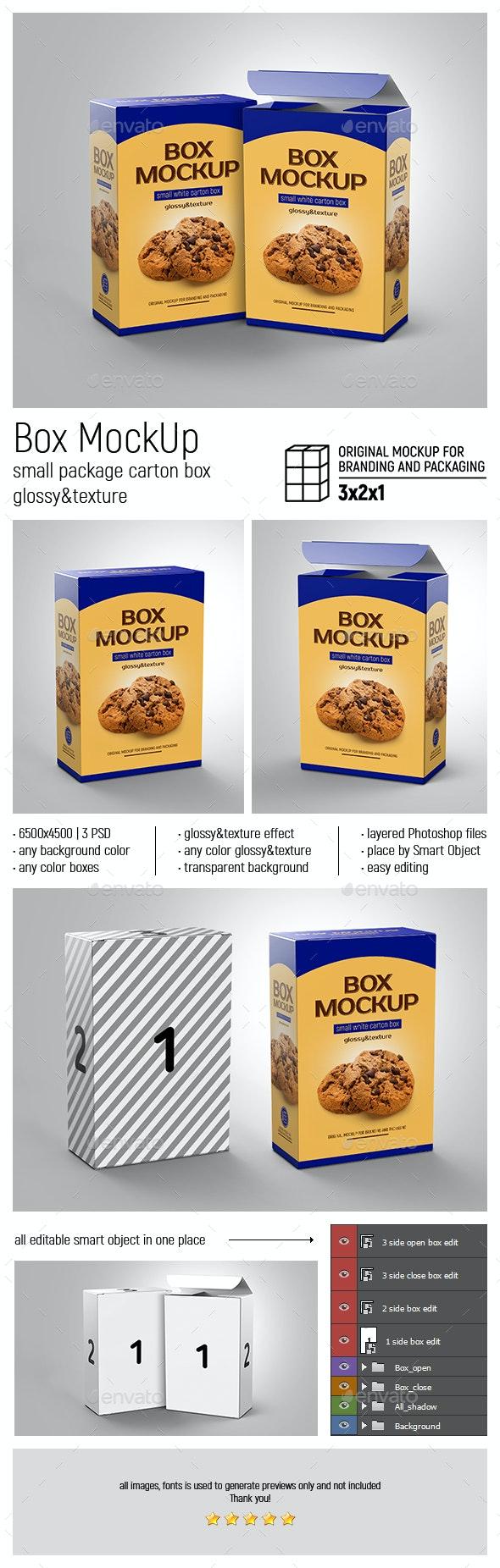 Box MockUp Glossy and Texture - Product Mock-Ups Graphics