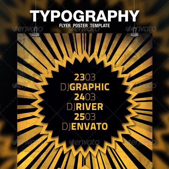 Typography Flyer / Poster