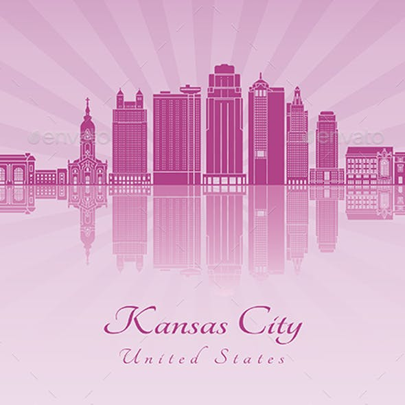 Kansas City V2 Skyline in Purple Radiant Orchid