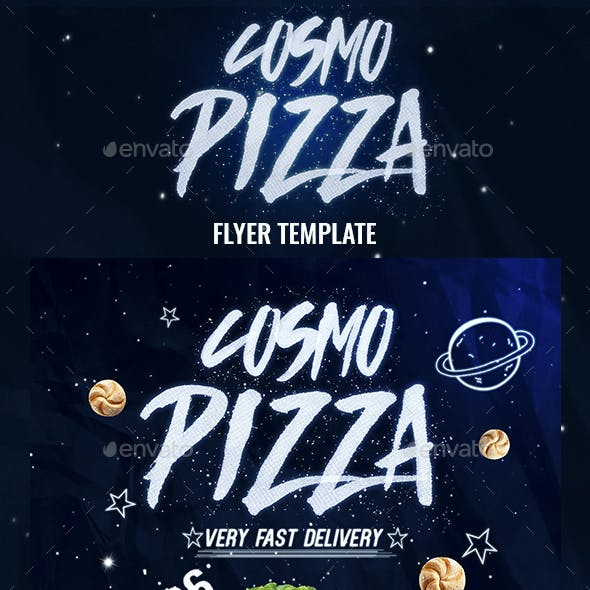 Cosmo Pizza Flyer Template