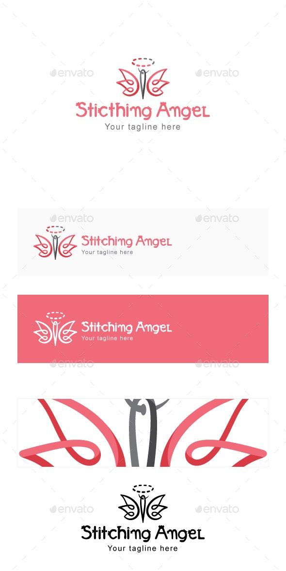 Stitching Angel - Stock Logo Template - Animals Logo Templates