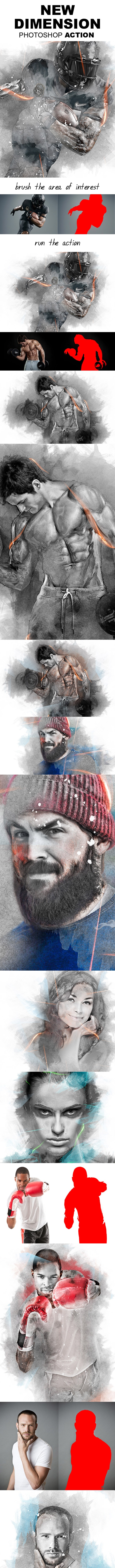 New Dimension Photoshop Action - Photo Effects Actions