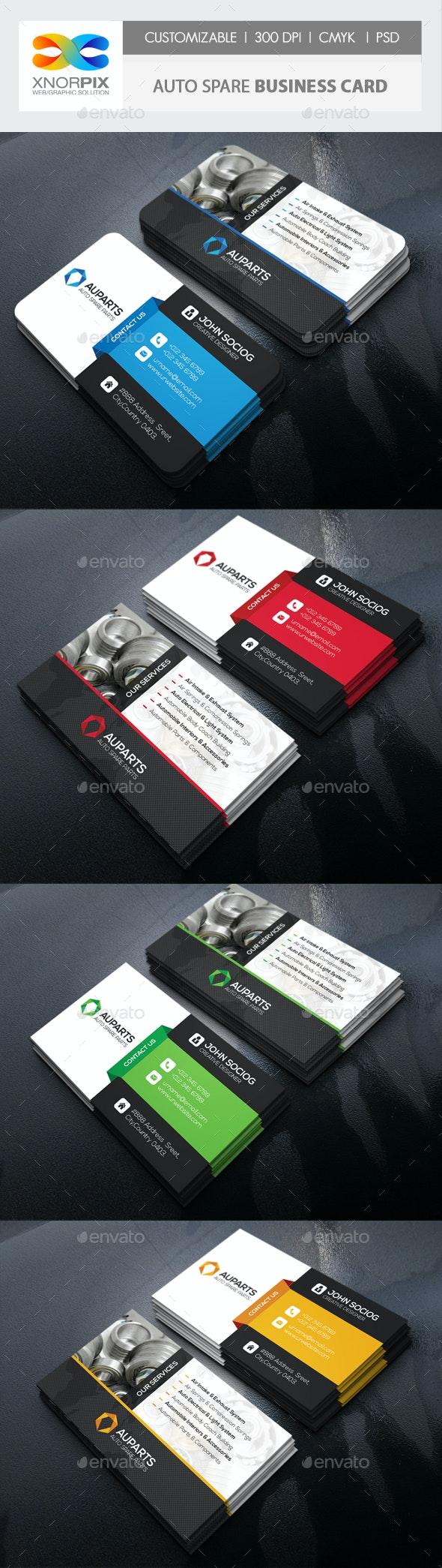 Auto Spare Business Card - Corporate Business Cards