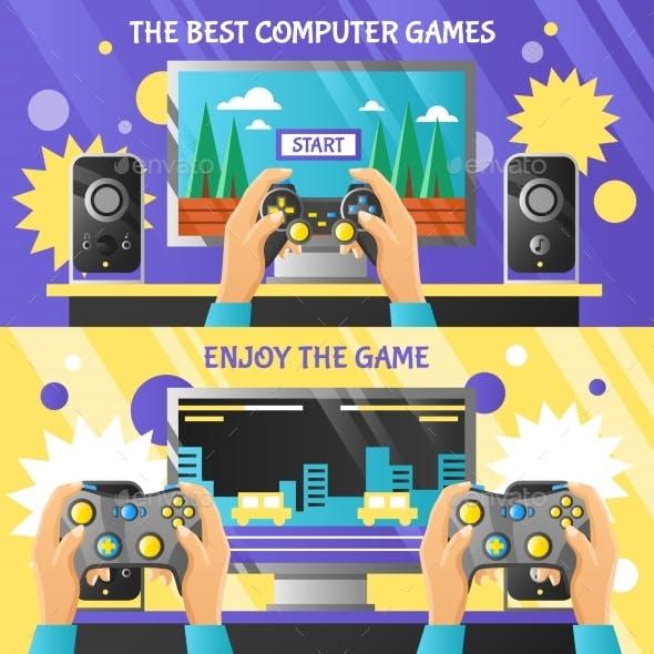 Game Gadget Horizontal Banners