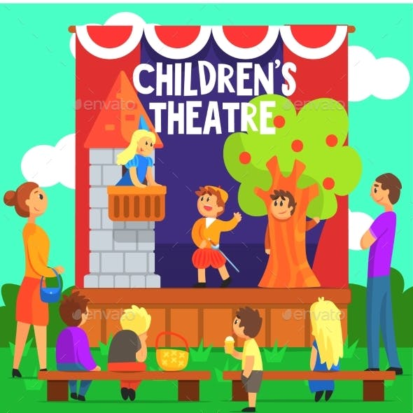 Amateur Children Theatre Performance of Fairy Tale
