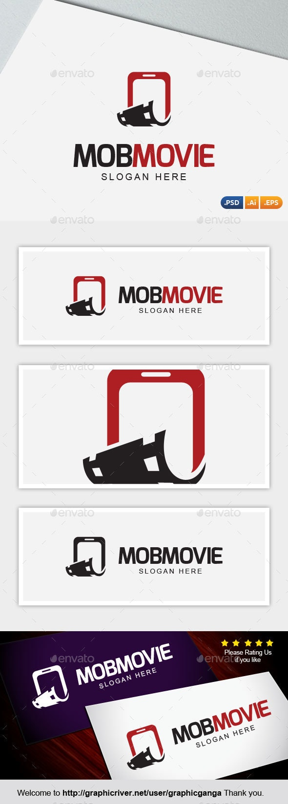 MobMovies - Abstract Logo Templates