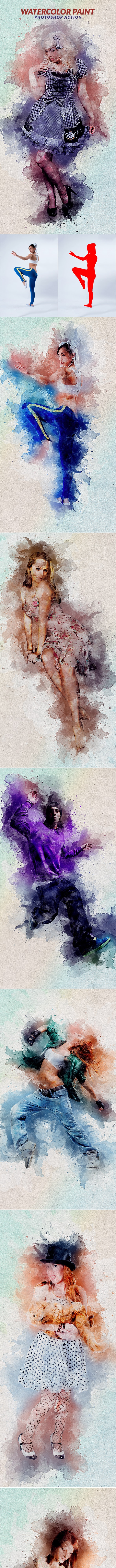 Watercolor Paint Photoshop Action - Photo Effects Actions