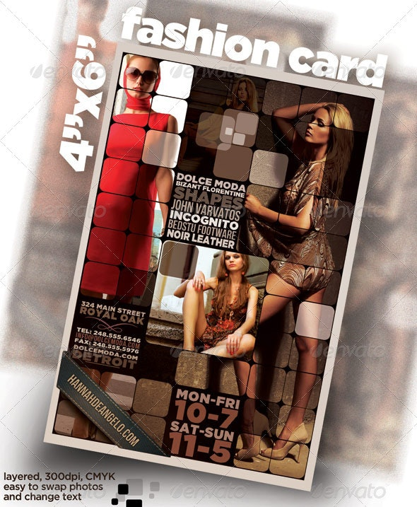 """4""""x6"""" card / flyer with Fashion Theme - Corporate Flyers"""