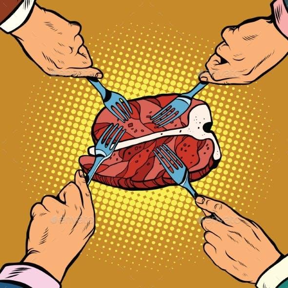 Steak Sirloin Meat Food