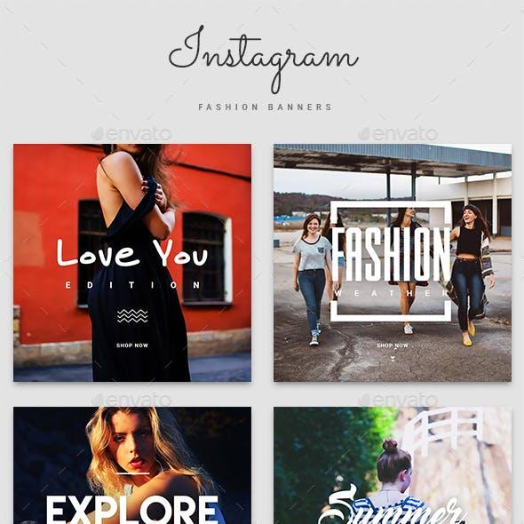 Instagram Fashion Banner Templates