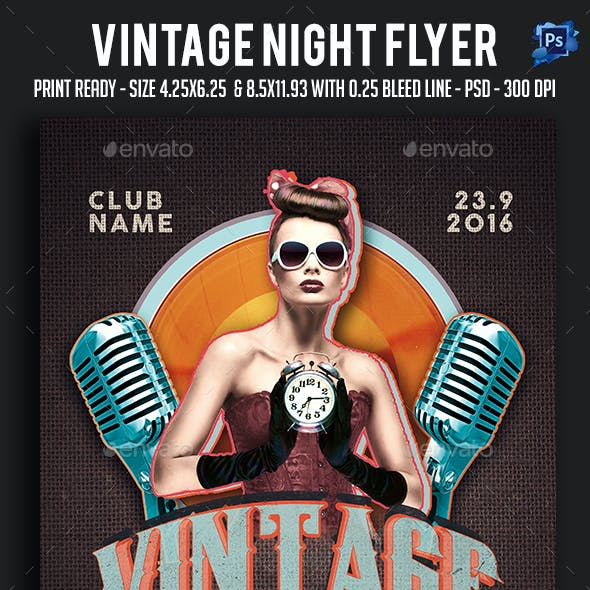 Vintage Night Flyer