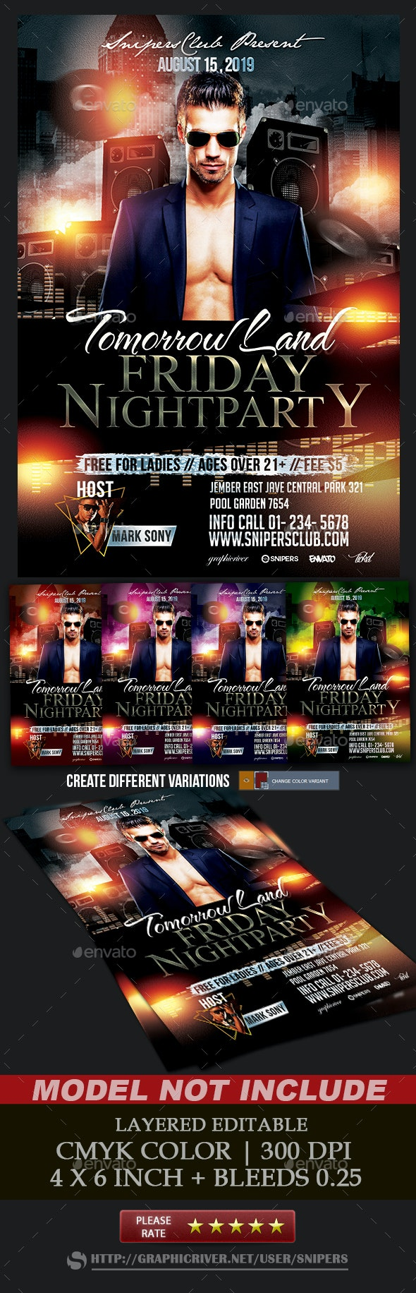 Friday Night Party - Events Flyers
