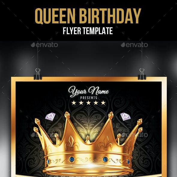 Queen Birthday Flyer