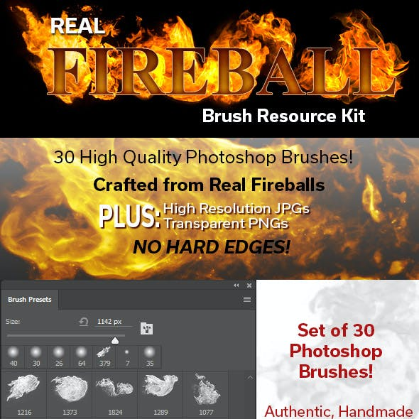 Real Fireball Brush Resource Kit