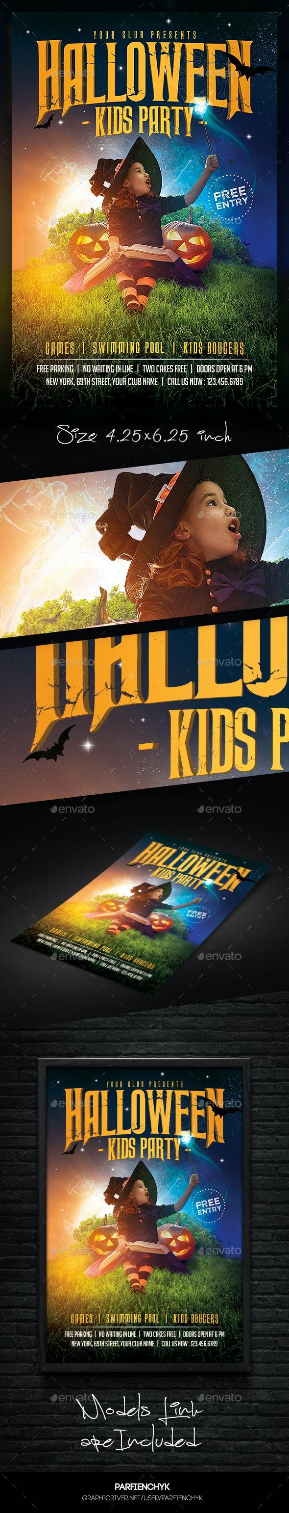 Kids Halloween Magic Flyer - Clubs & Parties Events