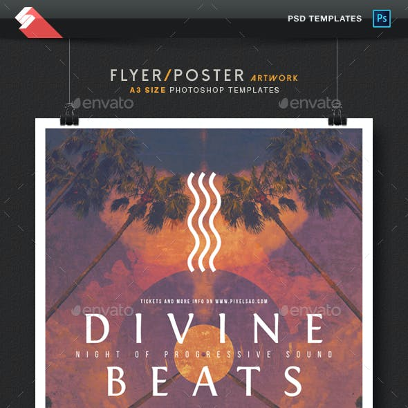 Divine Beats vol.3 - Creative Party Poster / Flyer Template A3