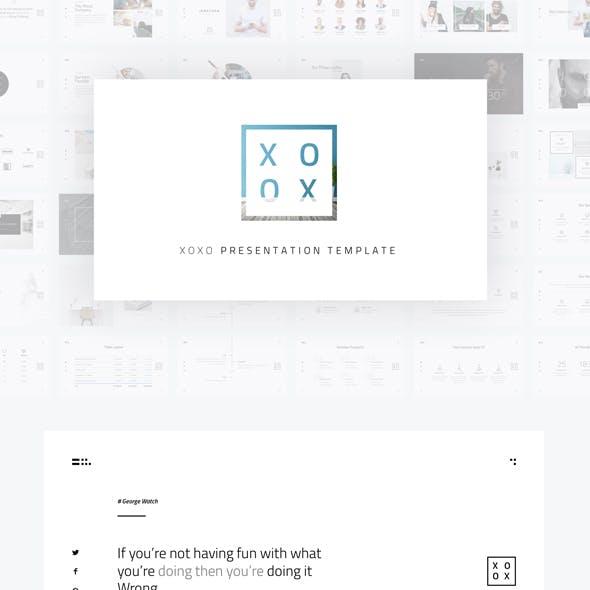XOXO - Minimal Keynote Template