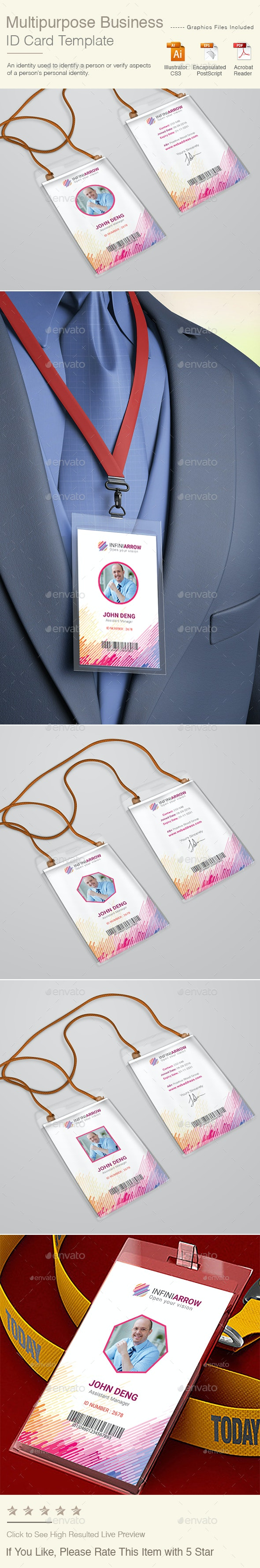 Multipurpose Business ID Card - Miscellaneous Print Templates