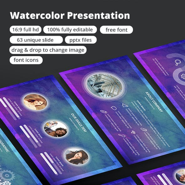 Watercolor - PowerPoint Presentation