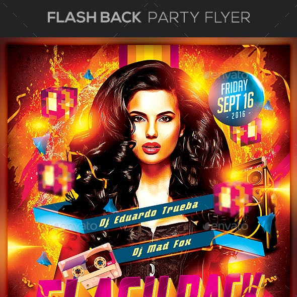 Flash Back Party Flyer