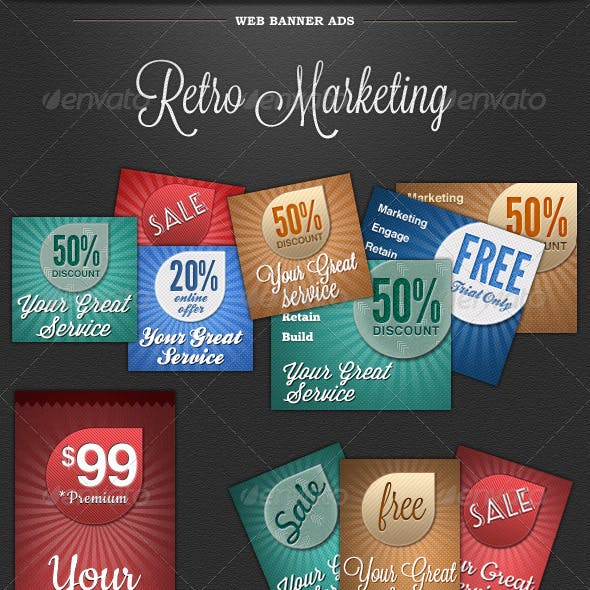 Web Banner Ads - Retro Marketing