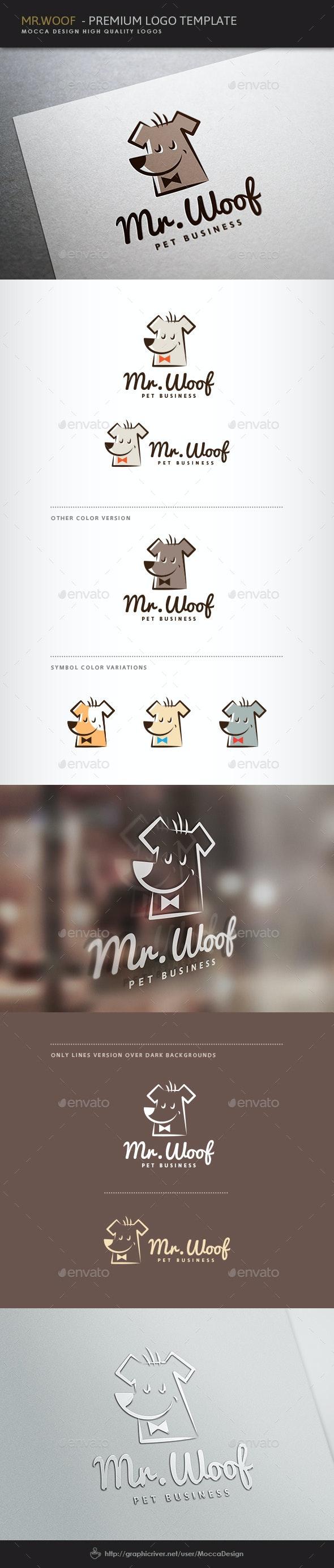 Mr.Woof Logo - Animals Logo Templates