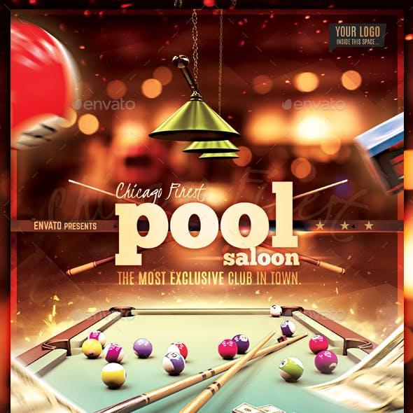Pool Billiard Club Flyer Template