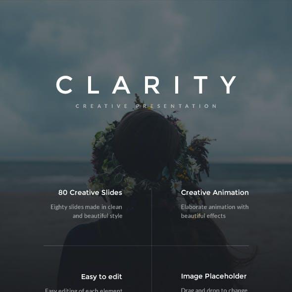 Clarity Keynote Presentation