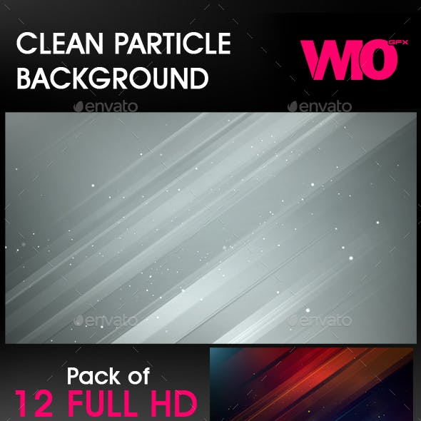 Clean Particle Background